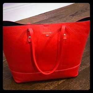 Cole Haan hard bottom leather Carryall Tote